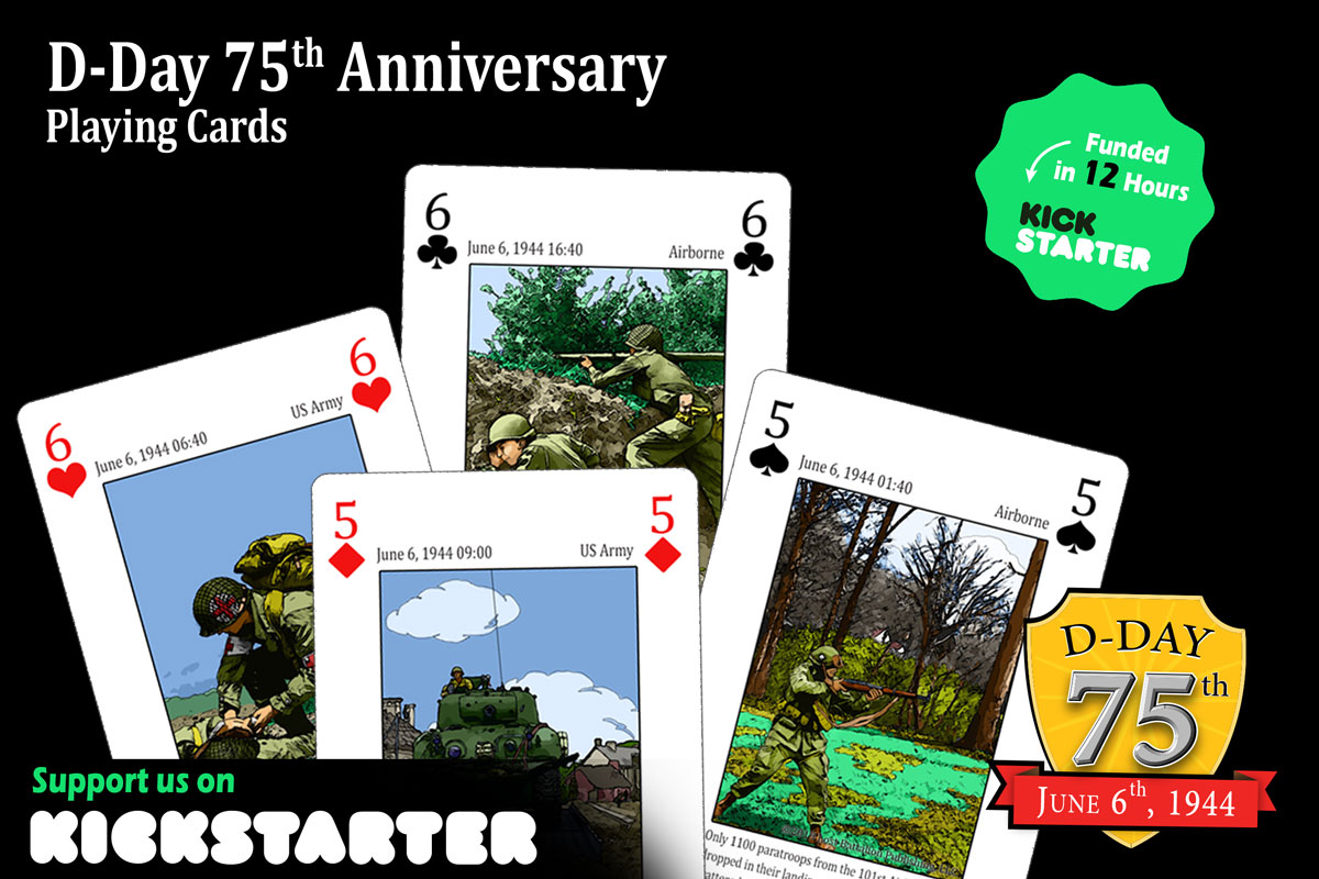 D-Day 75th Anniversary Playing Cards Kickstarter