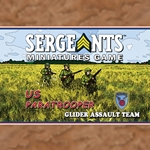 The US Glider Assault Team brings to bear tremendous automatic firepower, capable of keeping the enemy pinned down. Featuring a BAR and Thompson armed soldiers, this team is a welcome addition to any assault.