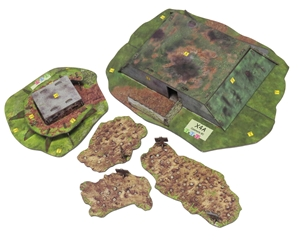 Merville Gun Battery terrain expansion for Sergeants Miniatures Game Red Devils adds bunkers.