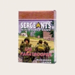Sergeants Miniatures Game Soldiers Each US Paratrooper M1 Garand armed leader comes as a private soldier, junior NCO and senior sergeant.