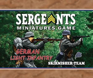 Sergeants German Light Infantry Skirmisher Section