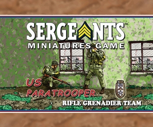 Sergeants Miniatures Game Specialist Soldiers The US Glider Rifle Grenadier Team has a great mix of long range capabilities as well as being heavily stocked with grenades and ammunition.